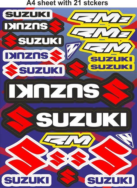 Motorrad Helm Sticker by Suzuki Stickers Race Stickers Decals Helmet Decal