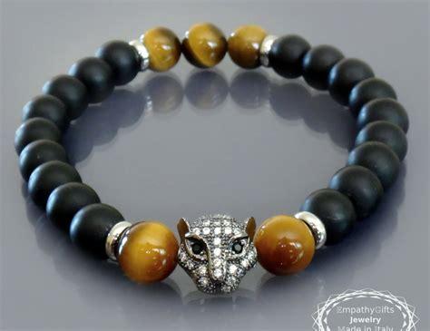 E M O R Y Nialaya 1 black panther bracelet mens black onyx bracelet gold tiger eye