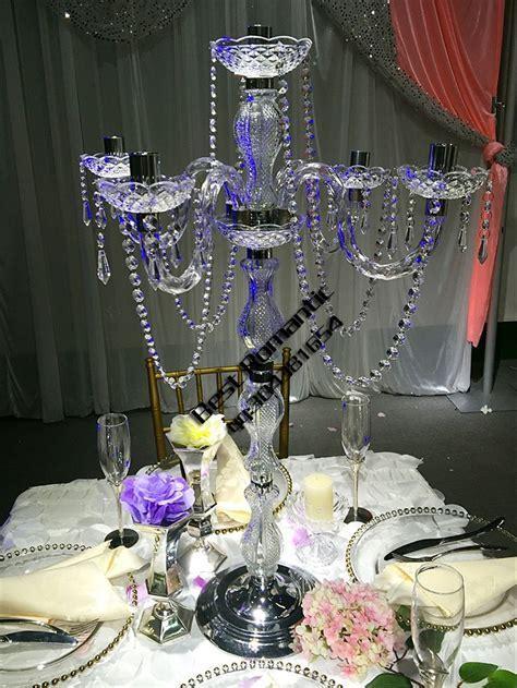 Tall Wedding Plastic Candelabra Acrylic Candelabra