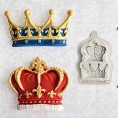 St Cake St Dan Emboss 8mm katy sue crowns silicone mould