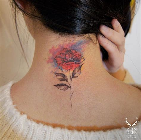 back neck tattoos 40 beautiful back neck tattoos for tattooblend