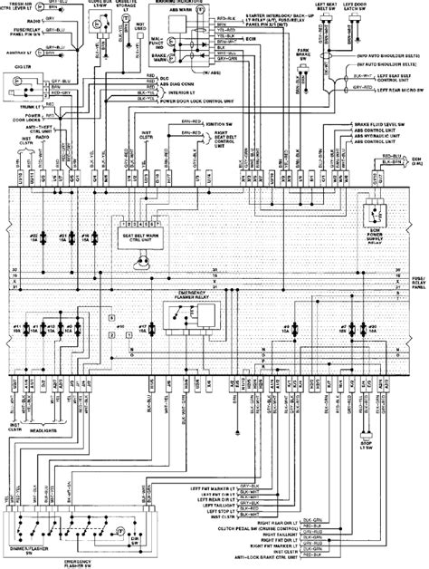 1993 vw passat emergency lights wiring diagram circuit