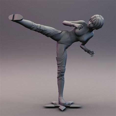 Anime 3d Print by Anime Side Kick Pose 3d Model 3d Printable Stl