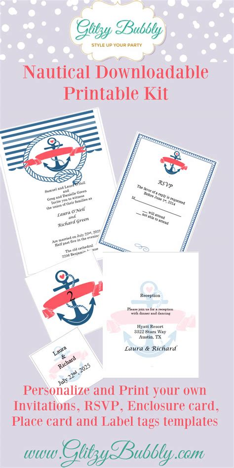 free printable wedding invitations nautical free printable nautical wedding invitations