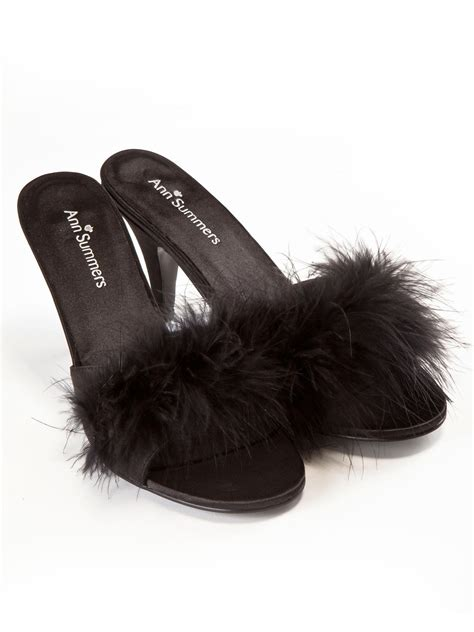 sexy bedroom slippers ann summers womens black marabou mules sexy bedroom