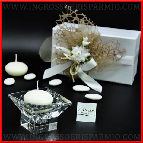 candela bomboniera matrimonio porta candela cristallo morena bomboniere matrimonio