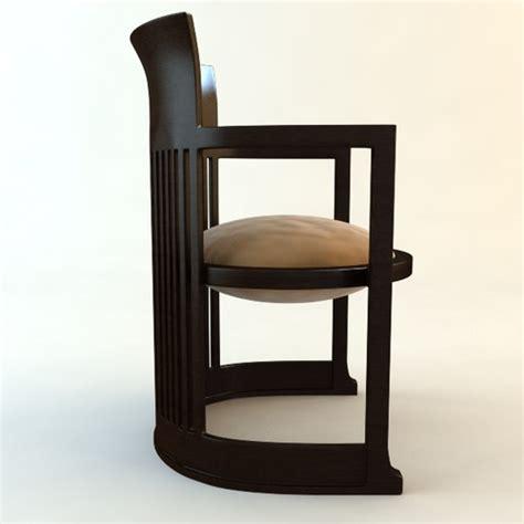 Frank Lloyd Wright Barrel Chair Frank Lloyd Wright Barrel Chair 3d Model Max Obj 3ds