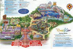 map of california adventure disney california map