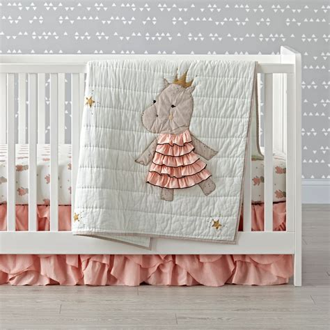 Hippo Crib Bedding royal hippo crib bedding the land of nod