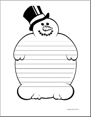 lined paper with snowman border writing paper snowman elementary abcteach