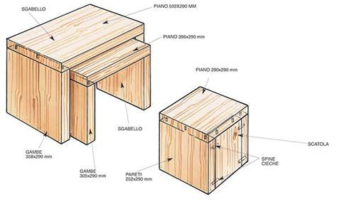ovvio sgabelli sgabelli in legno fai da te salvaspazio bricoportale