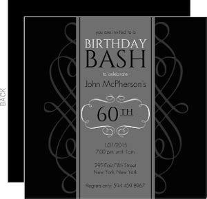 Cheap 60th Birthday Invitations & Inexpensive 60th
