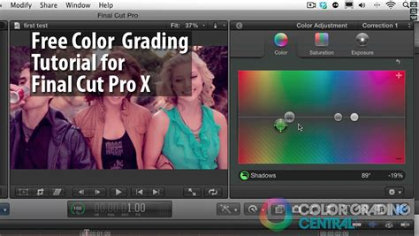 final cut pro grading free color grading tutorial on final cut pro x