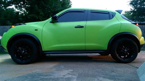 green nissan juke electric lime green plasti dip
