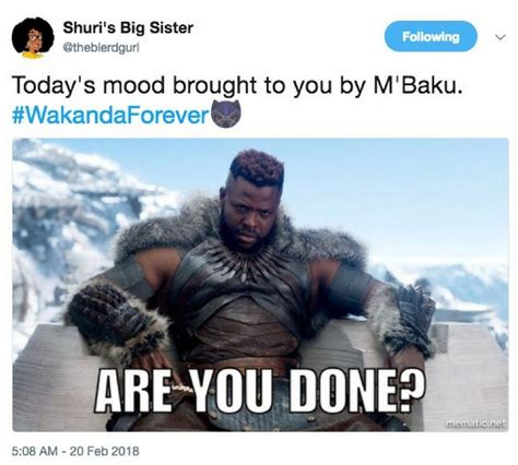 Are You Done Meme - 23 funniest wakanda memes that will have you rolling