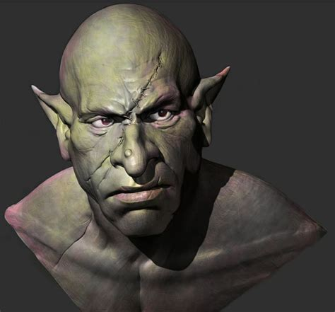 zbrush orc tutorial orc bust zbrush photoshop zbrush studies pinterest