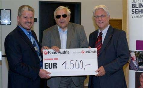 bank austria in tirol blinden und sehbehindertenverband tirol