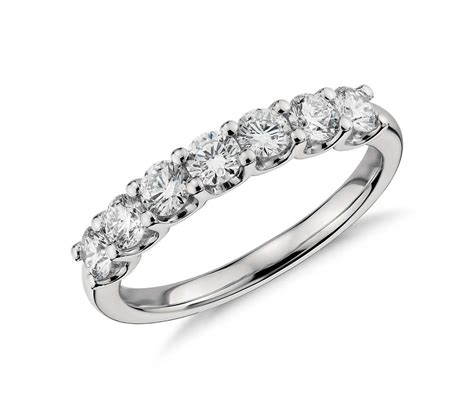 diamonds rings seven ring in platinum 1 ct tw