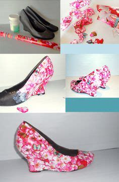 diy decoupage shoes shoes pumps on ballet flats heels and