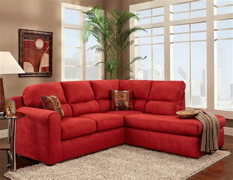 red sectional red microfiber sectional sofa furniture charming red