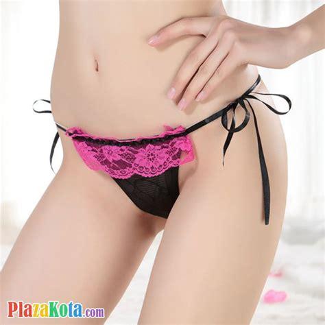 G String Hitam Renda 8201y jual gs047 celana dalam wanita hitam renda