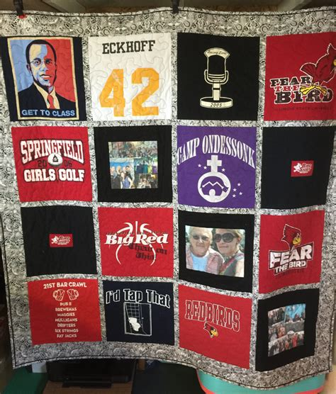 Memory Quilts Made From T Shirts by T Shirt Quilt Custom Made Memory Quilt Made From 15 49