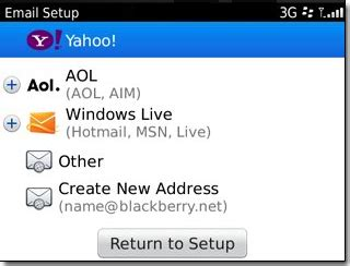 email yahoo for blackberry login blackberry email account