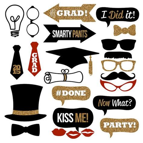 printable graduation photo booth props 2015 graduation photo booth props collection printable