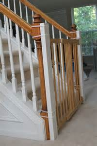 baby gate stairs banister in the ordinary installing a baby gate without