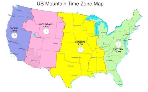 utah time zone mountain time zone map image gallery mountain standard