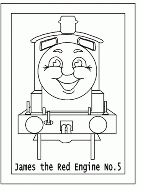 my family fun james engine no 5 coloring free pages