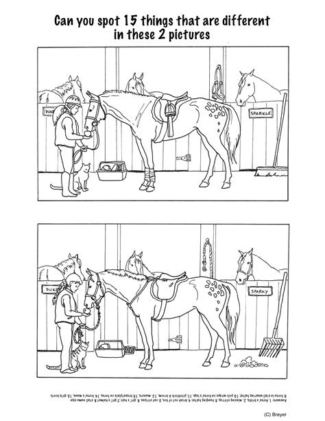 printable horse games spot the difference printables new calendar template site