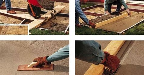 diy concrete patio how to pour a slab concrete patios