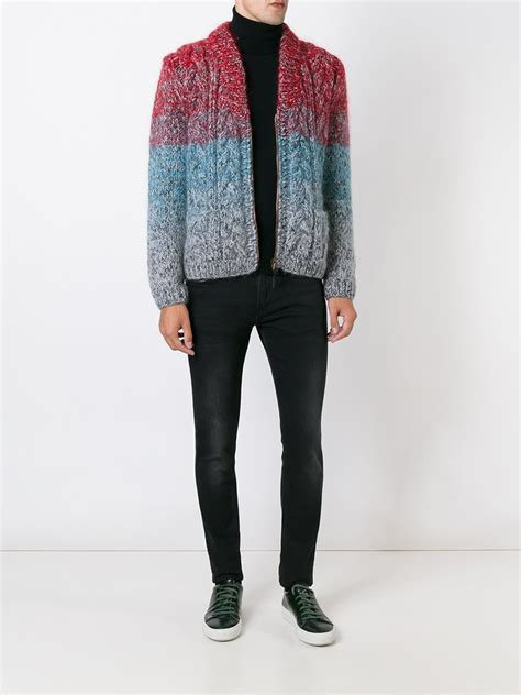 Gradient Cardigan lyst missoni gradient cardigan in for