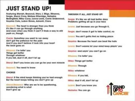 carrie underwood just stand up mp just stand up with lyrics on screen youtube