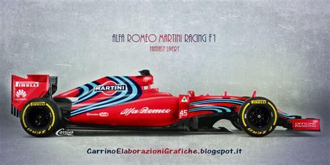 martini livery f1 2017 alfa romeo martini racing formula 1 livery concept on