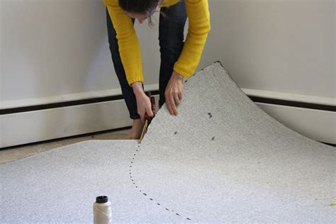 cut a rug line how to cut a half circle rug merrypad