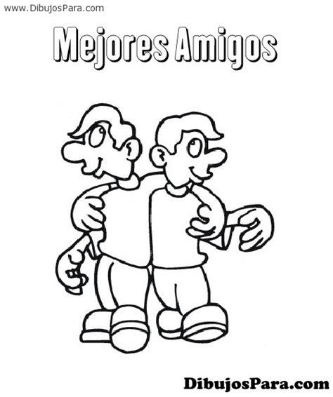 imagenes amistad para colorear dibujo de mejores amigos para pintar dibujos para colorear