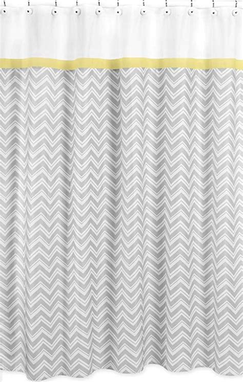 zig zag yellow gray chevron print shower curtain