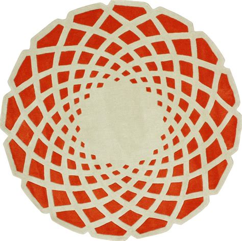 orange circle rug shop houzz nuloom nuloom cine luminous orange rug area rugs