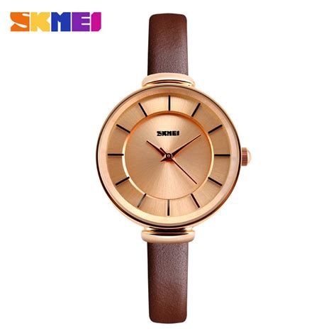 Jam Tangan The Unisex Ab1607 Brown List Gold Plat Black skmei jam tangan analog wanita 1184cl brown gold jakartanotebook