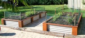 Backyard Blitz Cast Corrugated Iron Raised Garden Beds Corrugated Iron