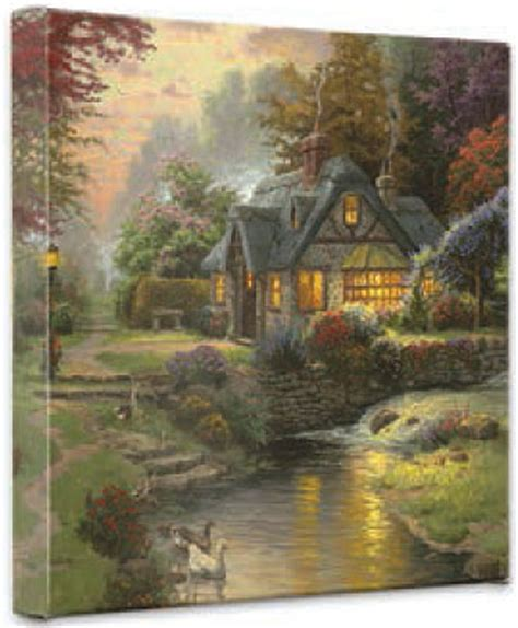 Kinkade Stillwater Cottage by Kinkade Stillwater Cottage Wrapped Canvases