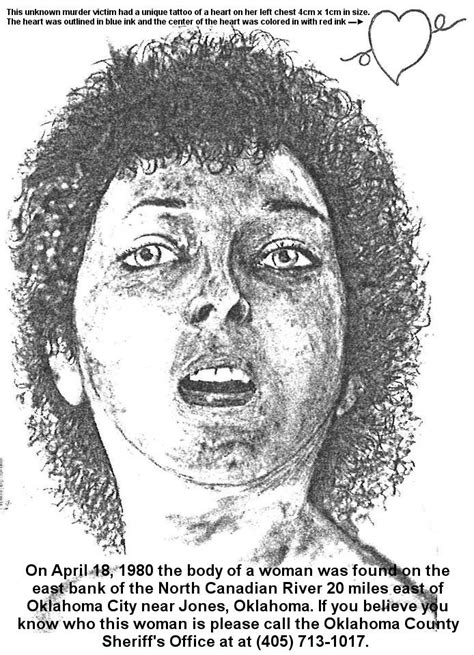 unidentified persons found 26 best images about oklahoma missing unidentified
