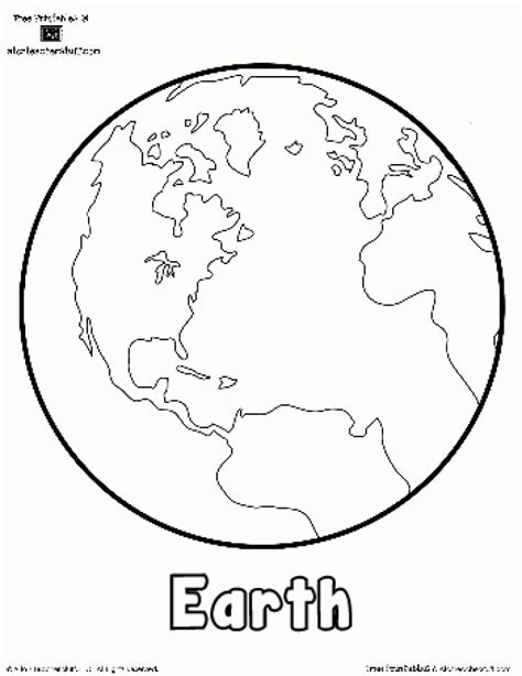 globe map of the world coloring page for kids printable