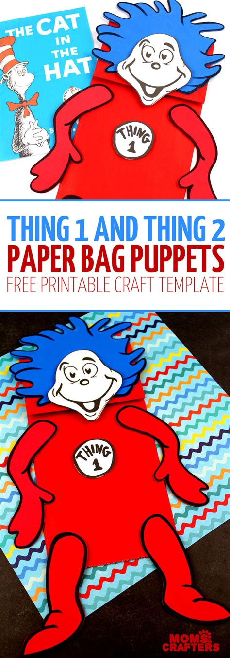 thing 1 and thing 2 card templates thing 1 and thing 2 puppets free printable template