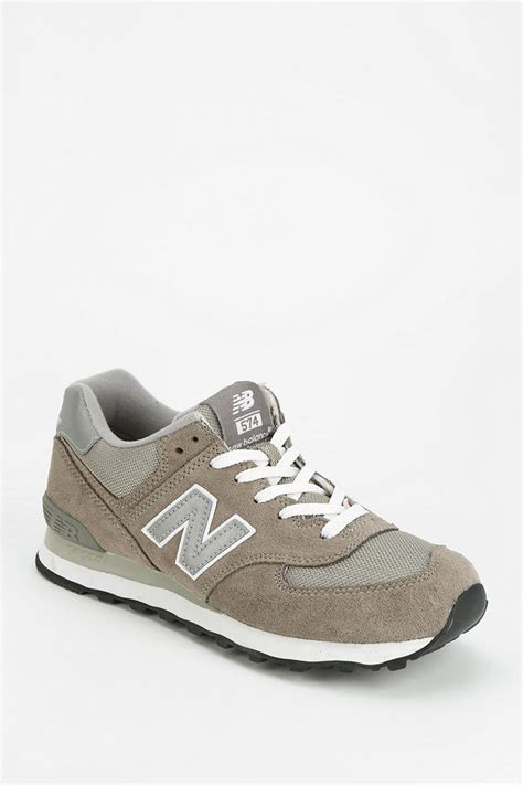 classic new balance sneakers lyst new balance 574 classic running sneaker in gray