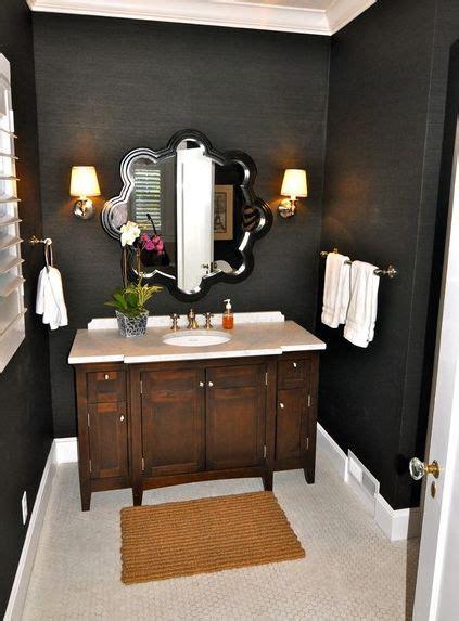 chic black bathroom interiors