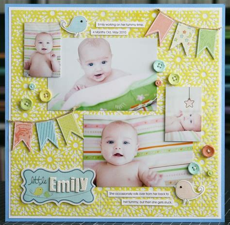 layout scrapbooking baby 472 best images about scrapbook pages on pinterest