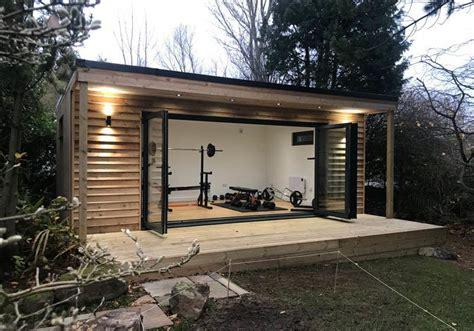 bespoke garden gym  scotland  gym room  home dream